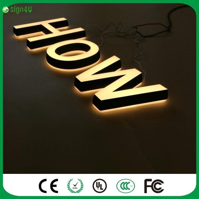 사용자 정의 LED 조명 3D 문자 간판 야외 광고 방수 LED 조명 아크릴 ...