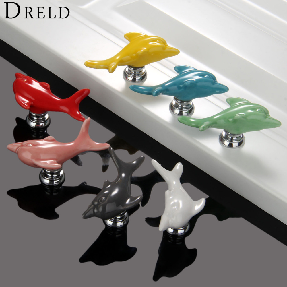 1Pc Furniture Handles Wardrobe Door Pull Drawer Handle Kitchen Cupboard Handle Cabinet Knobs and Handles Decorative Dolphin Knob high grade crystal handles wardrobe door cabinet knobs drawer cabinet knob furniture hardware small pull and handle