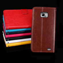 For Samsung Galaxy S2 Case   Stand Flip PU Leather Wallet Phone Cover for Samsung Galaxy S2 Case Fundas Capa