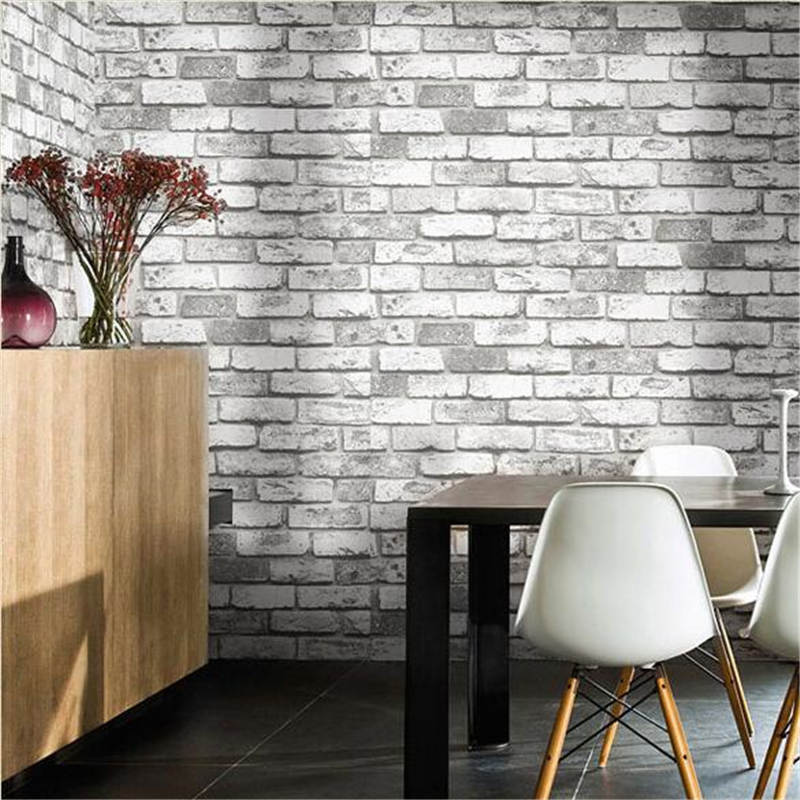 beibehang Antique Chinese Classical Red Brick Wallpaper Papel de parede Tile Brick Tea House Foot Bath Hotel Project Wallpapers