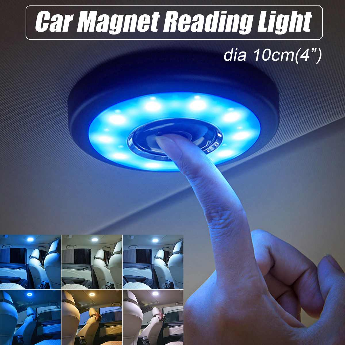 LED Car Interior Reading Light Auto USB Charging Roof Magnet Auto Day Light Trunk Drl Square Dome Vehicle Indoor Ceiling Lamp