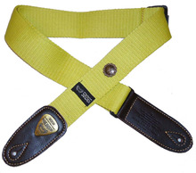 Free ShippingSoldiers 1.96 inches wide  thick cotton adjustable with metal ornaments  guitar  strap 1303A-Yellow