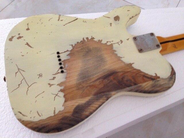 Handmade Relic electric guitar  humbucker pickups TL electric guitar Ash body 5