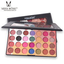 Brand Miss Rose matte shimmer eyeshadow makeup set 35 colors bright pink blue red nude 3D colorful waterproof palette