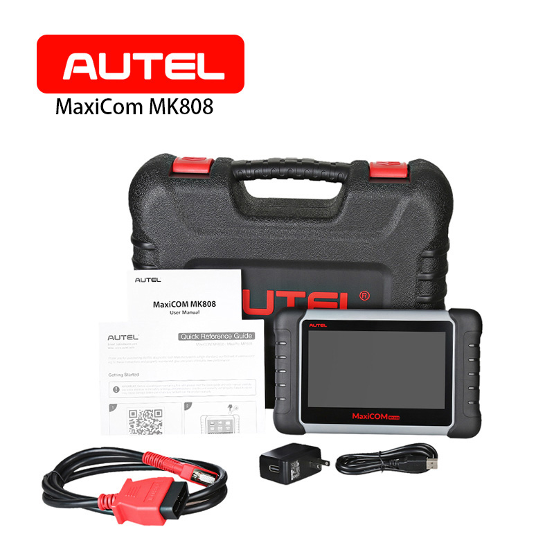 Autel MaxiCOM MK808 Auto Car Diagnostic Tool 7 Inch Touchscreen Code Scanner Support IMMO/ EPB/ SAS/ BMS/ TPMS/ DPF/ Wifi