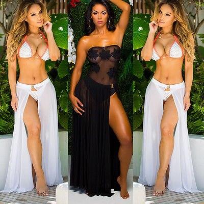 49a4f6119a85d Swimwear Bikini Set Cover Up Sheer Beach Wear Skirt Sarong Swimwear Color  Black White And Red
