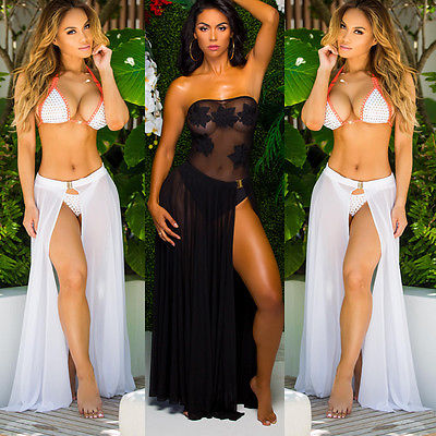 Swimwear Bikini Set Cover Up Sheer Beach Wear Skirt Sarong Swimwear Color Black White And Red Soli Beach Cover Ups цена 2017