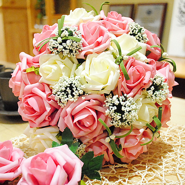 Multi color 2017 artificial wedding bouquet bridal flower roses multi color 2017 artificial wedding bouquet bridal flower roses purple accessories highly recommended mightylinksfo