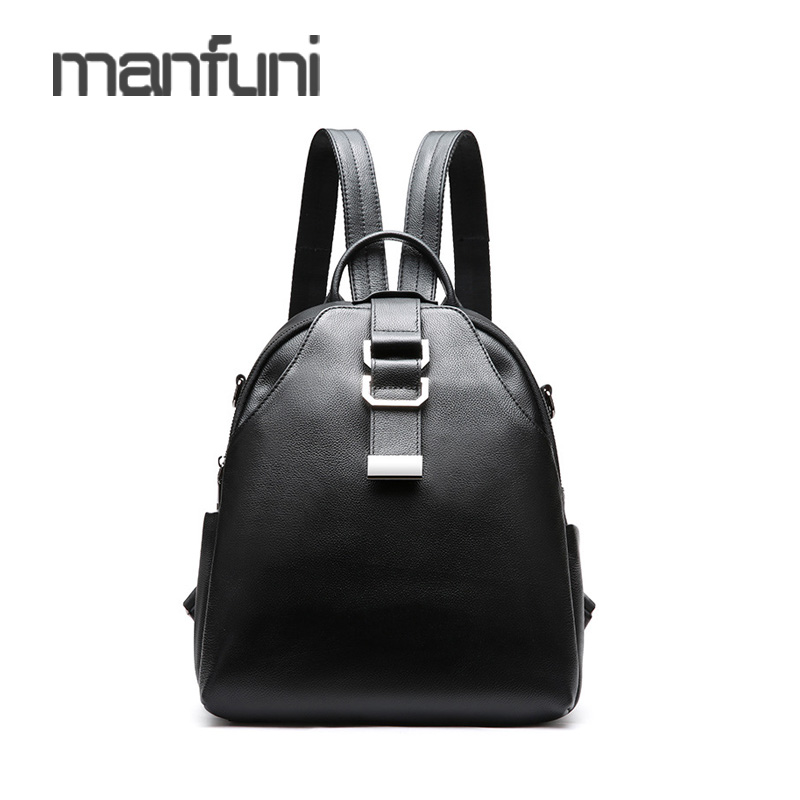 Backpack Female Genuine Leather Soft School Backpack For Girls Fashion Back Pack Sac A Dos Femme Woman Luxury Lager Backpacks fashion women backpack black soft leather backpacks female school shoulder bags for teenage girls travel back pack sac a dos
