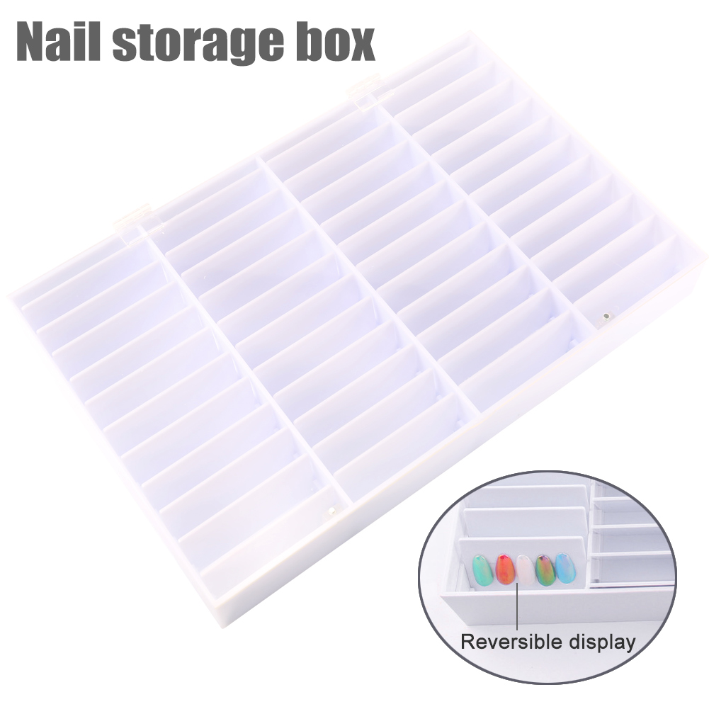 4 Compartments Nail Art Decoration Container Fake Nail Tips Storage Box 4 False Nail Display Case ake Nail Showing Box ezflow белые превосходные французские типсы 4 ezflow nail tips perfection perfect white french tips 4 refill 29171 4 50 шт