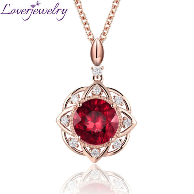 Natural ruby necklace pendant rubi in solid 14kt rose gold natural natural ruby necklace pendant rubi in solid 14kt rose gold natural diamond pendants for sale wp082 aloadofball Images