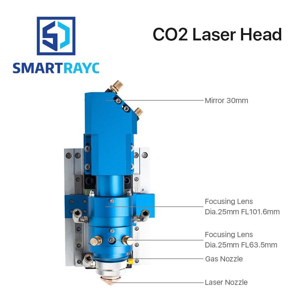 Smartrayc 500 W CO2 tête de découpe Laser métal et Non-métal tête de coupe mixte pour Machine de découpe Laser tête LASER