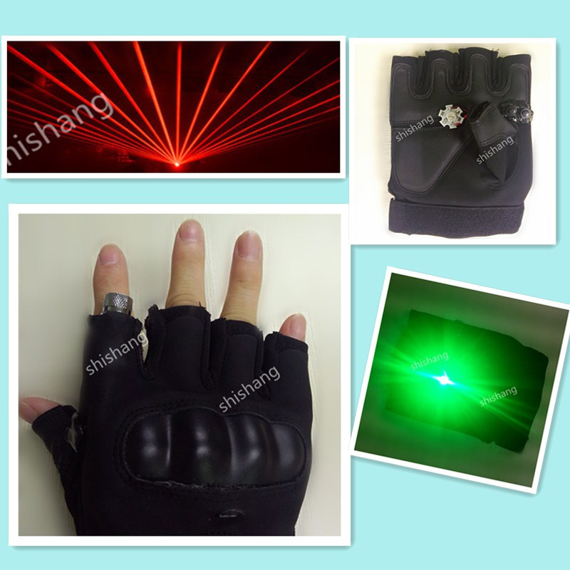 P01 2 With palm light 1pcs laser head Red laser light dance stage light party event dj disco disco ballroom dance costumes