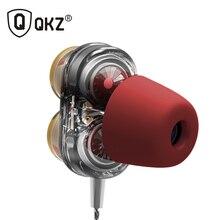 حقيقية QKZ KD7 سماعات محرك ثنائي مع Mic سماعة الألعاب mp3 DJ الحقل سماعة fone دي ouvido الأذنية