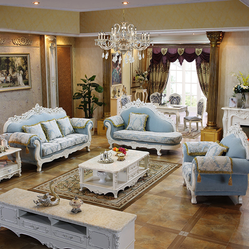 European style sofa set living room furniture luxuy sofa - European style living room furniture ...