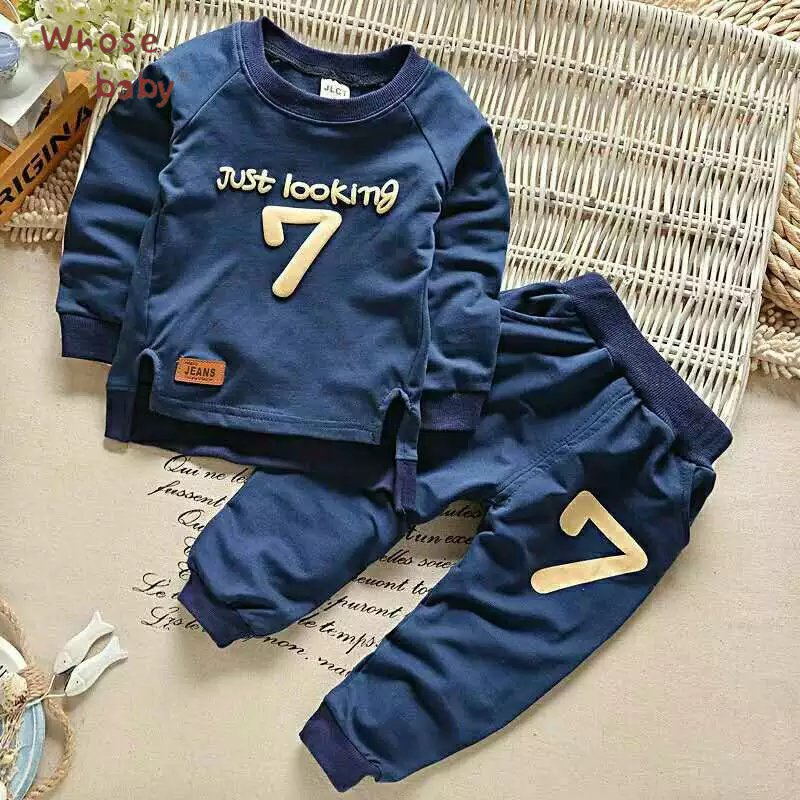 Baby Sets Boys Cotton Seven Print Spring Newborn Sweaters+Pants Fashion Infant Clothing Sets Baby Boy Outfit Children Suits new new brand 2pcs ofcs baby boy sets cotton spring