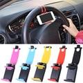 Universal del volante del coche soporte para teléfono móvil soporte para iphone 4 5 6 s plus para samsung s4 s5 s6 smartphone soporte gps