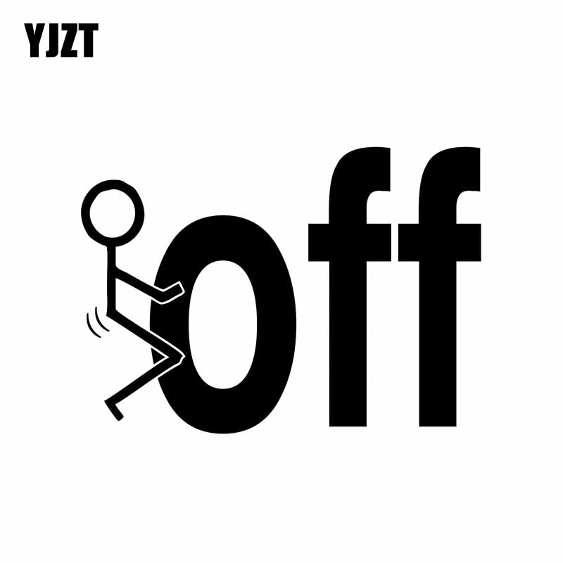 YJZT 12.7CM*9CM F OFF Funny Vinyl Decal Turbo Diesel Pick Up Truck Car Sticker Black Silver C10-00943