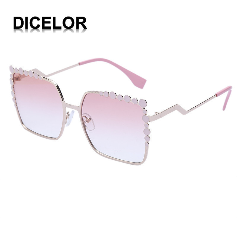DICELOR Brand Goddess Tears Sunglasses 2017 Newest Fashion Crystal Women Sunglasses Pink Designer Sunglasses font b