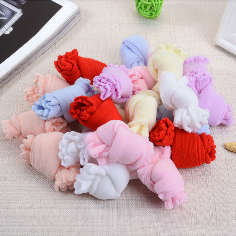 20 Pairs/Lot Girls Socks for Children Kids Mesh Style Baby Girl Socks with Elastic Candy Colors Summer Wholesale 5