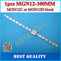 12mm Linear Guide MGN12 L= 300mm linear rail way + MGN12C or MGN12H Long linear carriage for CNC X Y Z Axis