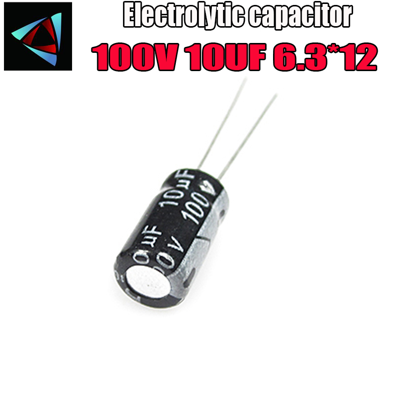 20PCS Higt Quality 100V 10UF 6.3*12mm 10UF 100V 6..3*12 Electrolytic Capacitor