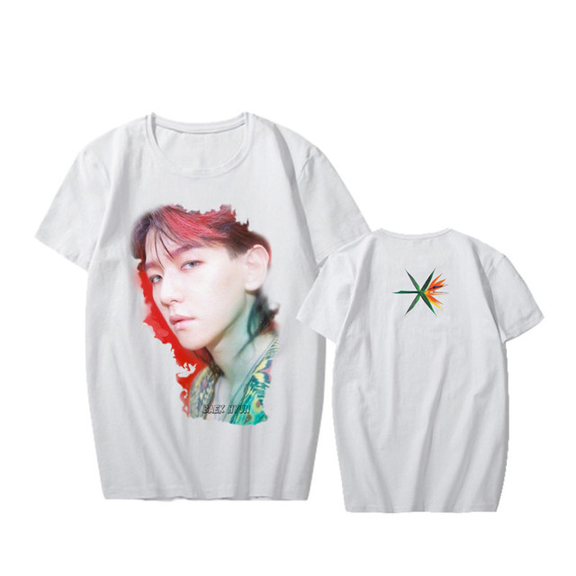 KPOP Korean Fashion EXO 4th Album THE WAR True Portrait Print Modal Tshirt K-POP T Shirts T-shirt PT552