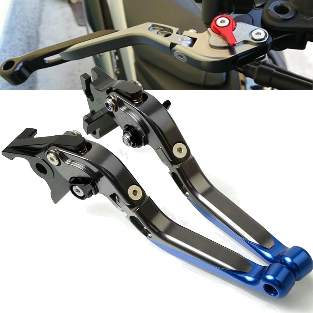 CNC extensible pliable R/églage de La moto leviers de frein dembrayage pour Yamaha V-Max 2009 2016/Logo V-Max