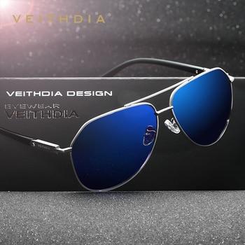 VEITHDIA الاستقطاب خمر النظارات الشمسية الرجال جديد وصول العلامة التجارية مصمم نظارات شمسية النظارات gafas oculos دي سول masculino 2732