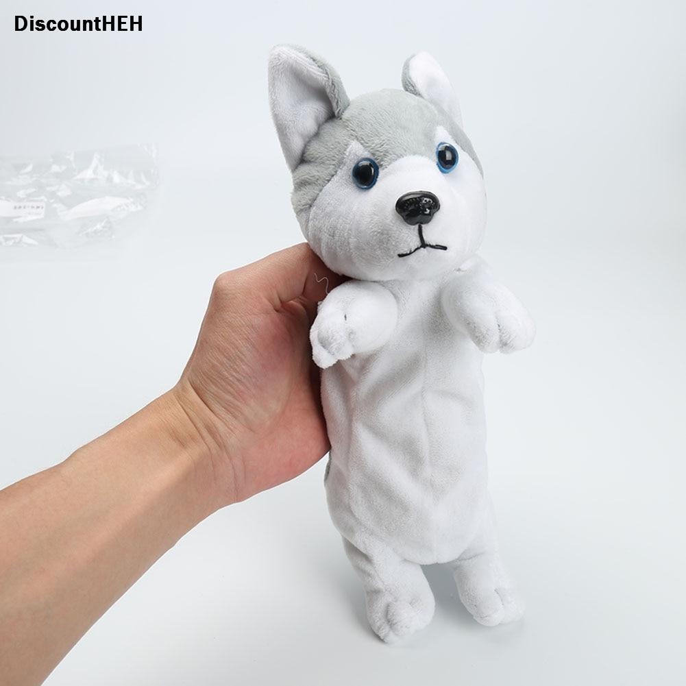 Creative Cute Dog Stuffed Stationery Bag Pencil Bag Pen Box Husky Doll Pencil Case