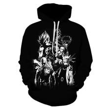 Anime 3D Hoodies Men Clothes 2019 Sweatshirts One Piece Print Black Casual Sweatshirt