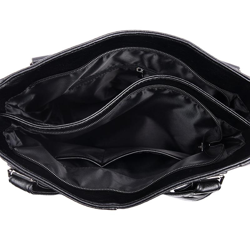 Image 5 - NEW Fashion Leather Women Bags Handbags Women Famous Brands  Luxury Designer Plaid Sholder Bag Ladies Big Casual Tote Sac A  MainTop-Handle Bags