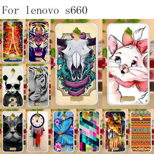 Anunob Phone Cases For Lenovo S660 Case Cover Silicone Fundas S668T S 660 4.7 Housing Soft TPU Painted Back