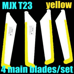 RC helicopter spare parts fittings 4*main blades/set MJX T23 big propeller rotor blades(color:yellow) rc helicopter gt model qs8005 fitting spare parts qs8005 big propeller main blade
