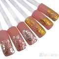 Alta qualidade de prata flor 3D Art Nail Stickers decalques detalhes no Hot stamping