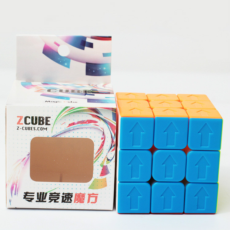 Zcube Frosted Version Red Cube Stickerless Puzzle Arrow Sodoku Version Magic Cube Puzzle Toys For Competition Challenge