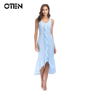29c215f670312 Low price for high low ruffle blue