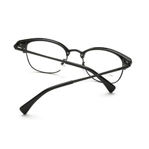 Image 5 - Browlineフルリム光学眼鏡フレーム用男性と女性黒とヒョウ眼鏡
