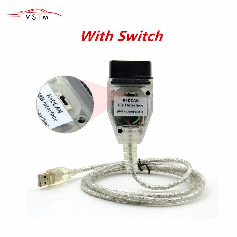 Новый для BMW INPA K + CAN K CAN INPA с чипом FT232RL с переключателем для BMW INPA K DCAN USB кабель интерфейса для BMW K CAN Inpa