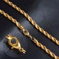 Новая Мода Золотое Ожерелье С Печатью Позолоченные 6 ММ 20 Дюйм(ов) Длинные Twisted Цепь Ожерелье Золота Ювелирных Украшений NX184