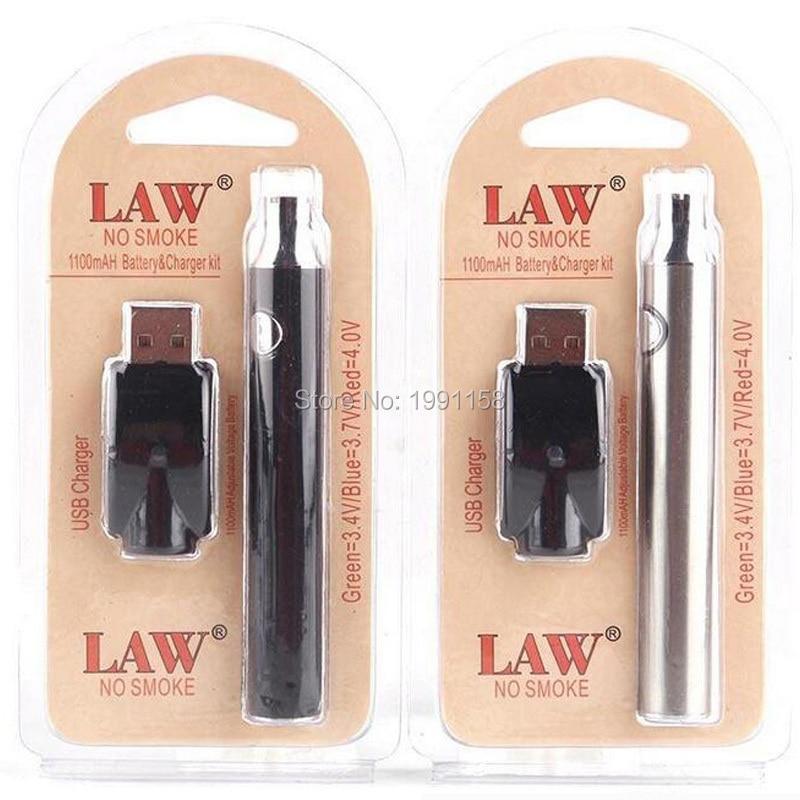 5pcs/lot LAW 1100mah Vape Pen Preheat Battery With USB