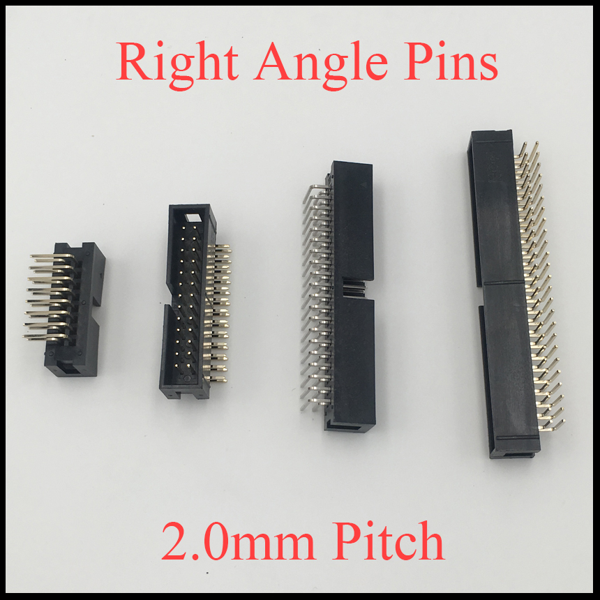 DC3 26P 34P 40P 44P 50P 26 34 40 44 50 Pins 2.0mm Pitch Right Angle Double Row Space Connector IDC ISP JTAG Male Header Socket