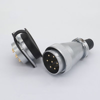 1Set WS/TP48 Aviation Connector Male&Female Square Flange Socket 5/7/20/27/38/42 Pin Aviation plug Circular Cable Connector