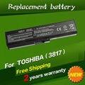 Jigu batería ordenador portátil del reemplazo para toshiba satellite l645 l655 l700 l730 l735 l740 l745 l755 l750 pa3817 pa3817u pa3817u-1brs