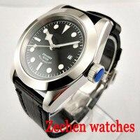 41mm Corgeut Men's Watch Miyota Automatic Mechanical Watch Luminous Waterproof Automatic Date Mechanical Watch
