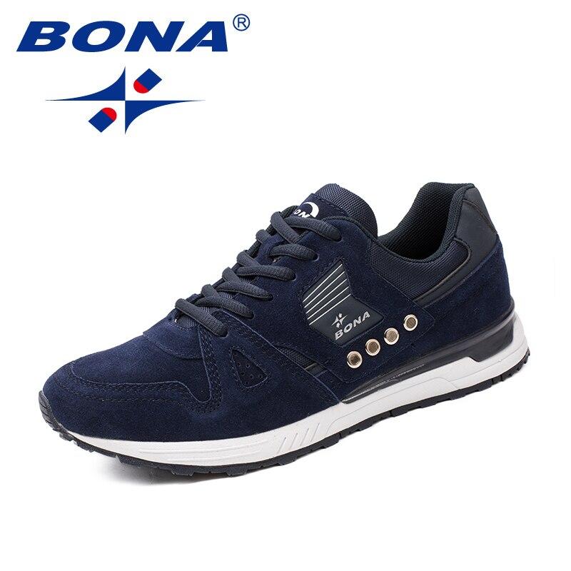 BONA nouveaux classiques Style hommes chaussures de course en daim hommes chaussures de sport à lacets hommes chaussures de Jogging baskets de plein air livraison gratuite rapide - 4