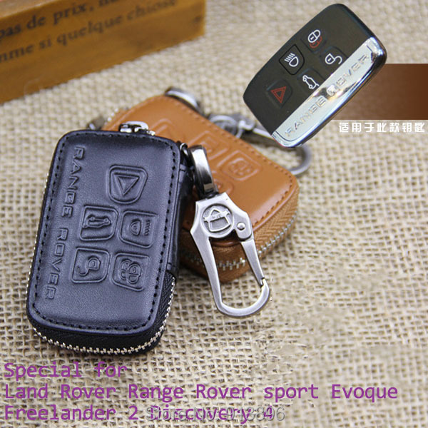 Leather Car Key Fob Case For Land Rover Range Rover Sport Evoque