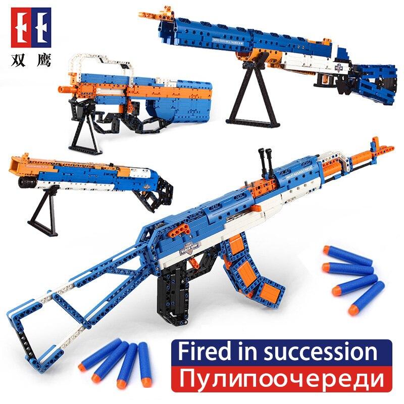 2018 SWAT émission Revolver pistolet pistolet de puissance technique armes modèle assemblé brique ensemble arme garçon jouet bloc de construction