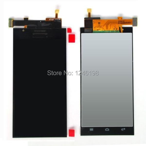 ФОТО High Quality Black New Full LCD Display Touch Screen Digitizer Assembly For Huawei Ascend P2 Free Shipping
