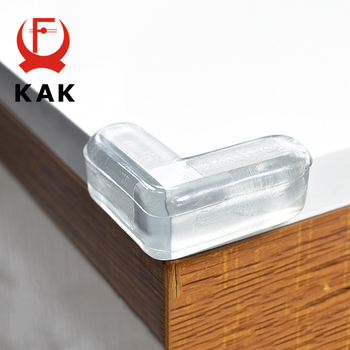KAK 4PCS Child Baby Silicone Safety Protector Table Corner Protection Children Anticollision Edge Corners Guards Cover For Kids